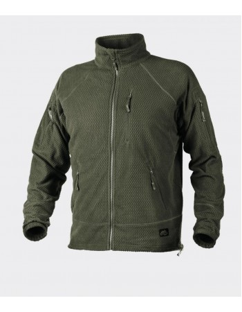 ALPHA TACTICAL - Grid Fleece Olive Green